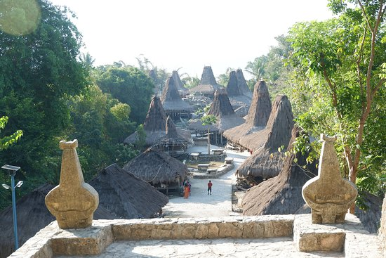 Tarung Cultural Villag: from the top courtyard