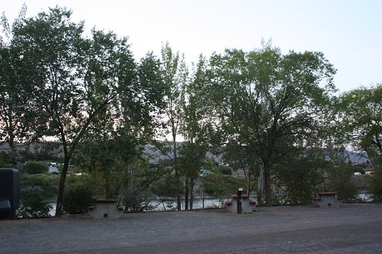 Ashcroft, Canada: View of the campsite at dusk.