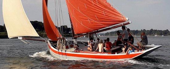 Auray, Francia: Navigation dans le Golfe du Morbihan