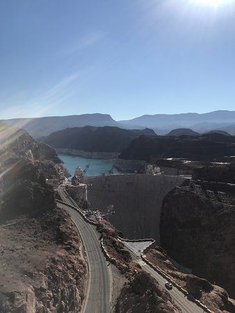 ATV Tour of Lake Mead and Colorado River from Las Vegas: Hoover Dam View From Bridge