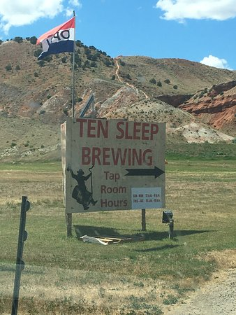 Ten Sleep, WY: Sign