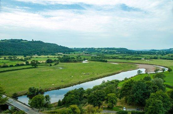 A view across the Towy River as seen from Dryslwyn Castle