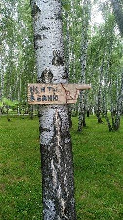 Iskitimskiy District, Ρωσία: Указатель, чтобы баню не прошли)))