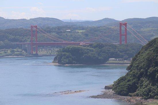 Hirado Ohashi: 平戸城から見た平戸大橋
