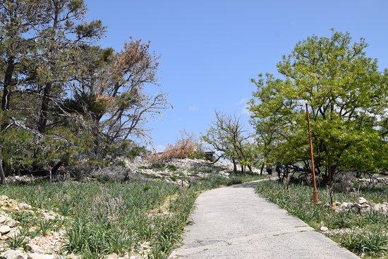 Primorje-Gorski Kotar County, Croatia: Wege durchziehen die ehemalige Gefängnis Insel Goli otok