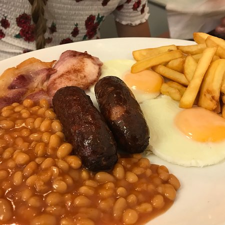 Drakes Cafe: Typical breakfast, the best that we have done in England very, very nice 👍