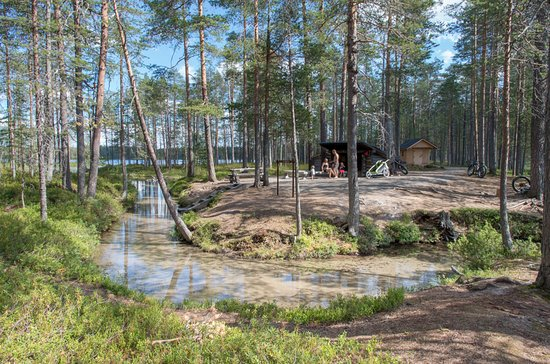Suomussalmi, Finland: Muikkupuro lean-to shelter is a summer time gem, also suitable for disabled. Pic: Tuuli Turunen