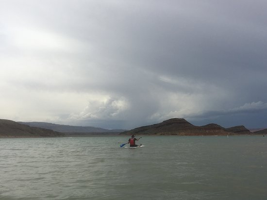 Dig Paddlesports: View across the lake