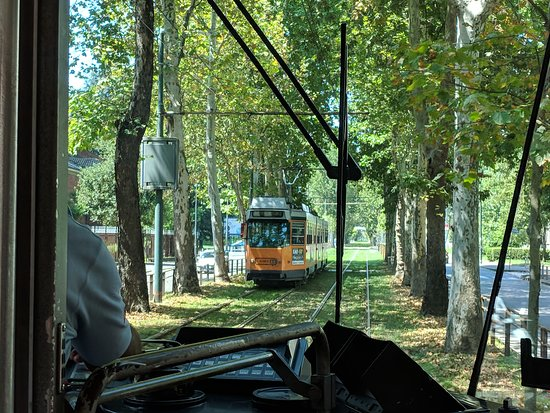 Antares Hotel Rubens: Nearby tram ride to the San Siro Stadium. Green and really rather beautiful