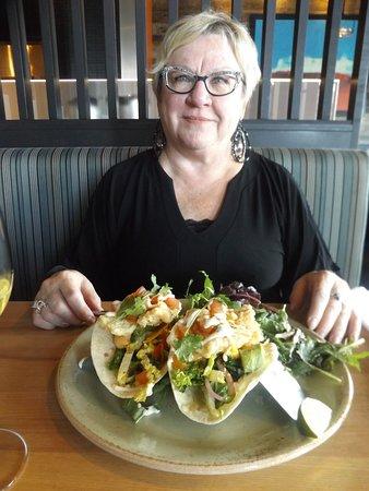 Milestones: Fresh hot fish tacos and side California salad