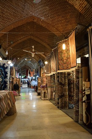 Urmia, Iran: Covered passage in the carpets area.