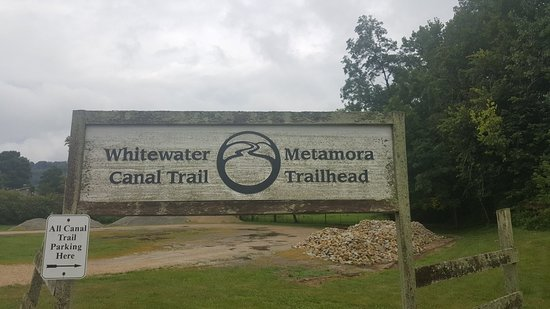 Metamora, IN: Trail head,  read signs for parking