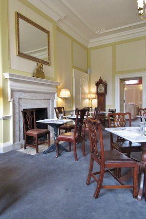One of the dining rooms in the Assembly House