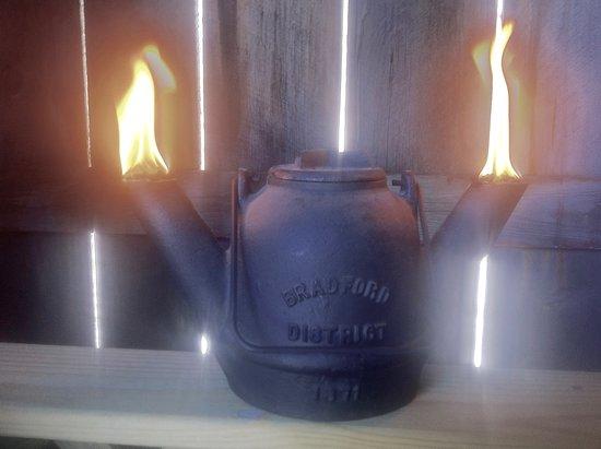 "Custer City, PA: Burning ""Yellow Dog"" rig lantern."