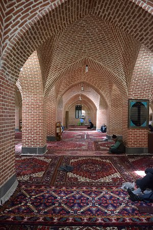 Ardabil, Iran: One of the mosque's prayer halls.