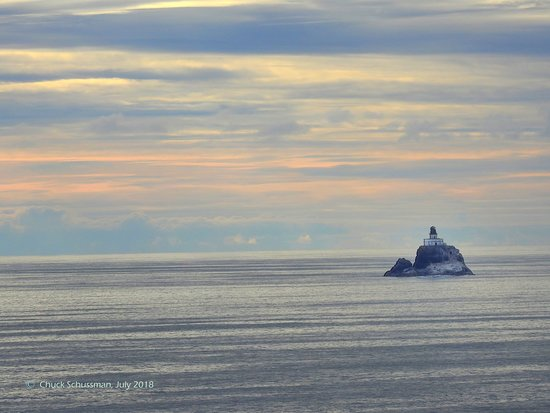 Tillamook Rock Lighthouse Viewed From Ecola State Park Cannon Beach Oregon Photo Taken