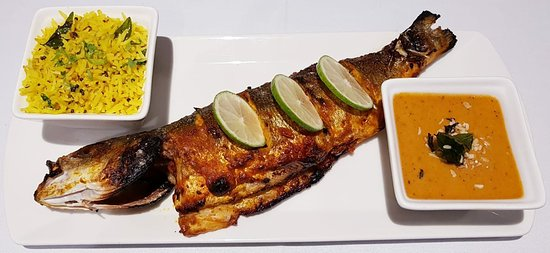 Pink Salt Indian Restaurant: Tandoori Seabass... Perfectly cooked... 😍 Must try...!!
