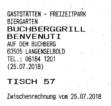 Langenselbold, Γερμανία: Unser Tisch im Biergarten.