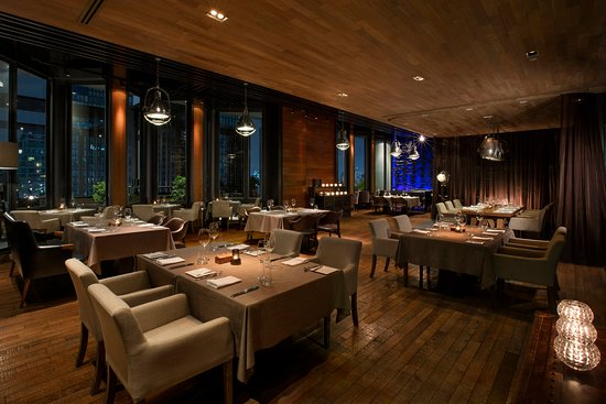Elements, Michelin-starred restaurant, presents French cuisine with Japanese influences.