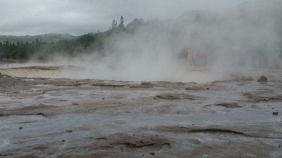 Geysir, Islande : Beginning of geothermal area