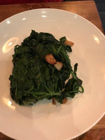 Cafe Alaia: sautéed spinach with garlic
