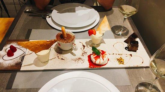 Trattoria Tre Merli: Dessertvariation