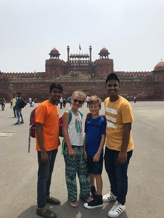 Kaimur Holidays: Red Fort with our young guides