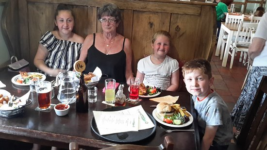 Ratlinghope, UK: My Wife and Grandchildren about to enjoy!