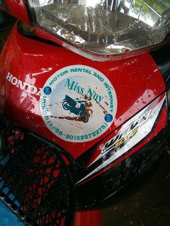 Miss Noy Motorbike Photo