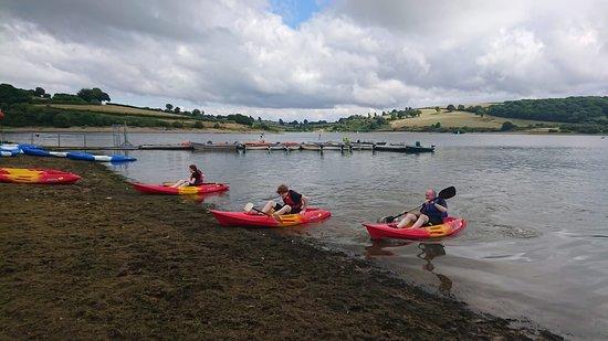 Brompton Regis, UK: Kayaks at Wimbleball
