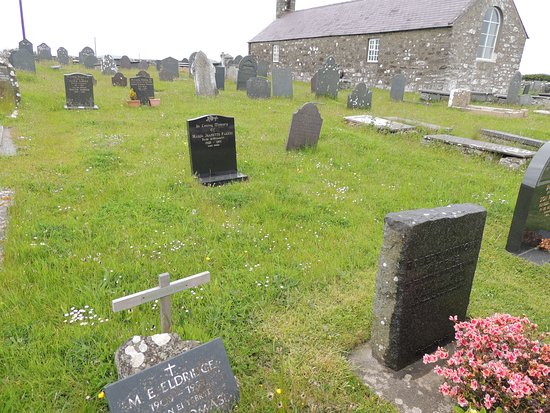 Llanfaelrhys, UK: M.E.Eldridge burial location and R.S.Thomas memorial