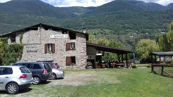 Montagna in Valtellina, Italien: l'agriturismo