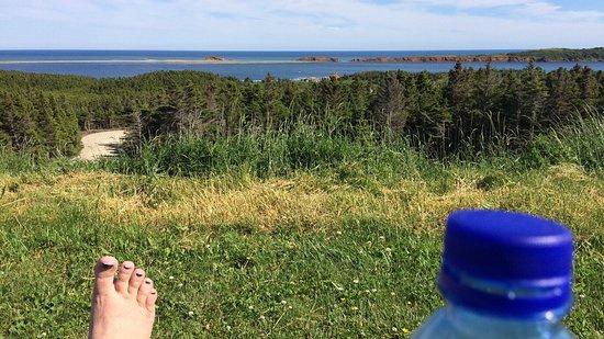 Ile de la Grande Entree, Kanada: Vue de l'arrière de l'Auberge.