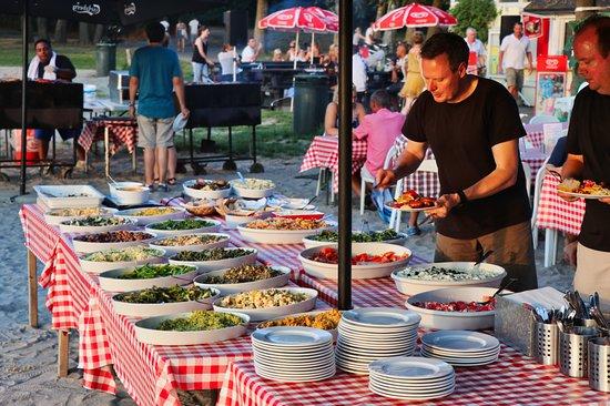 Virum, Denmark: The salad bar is more than just salad.