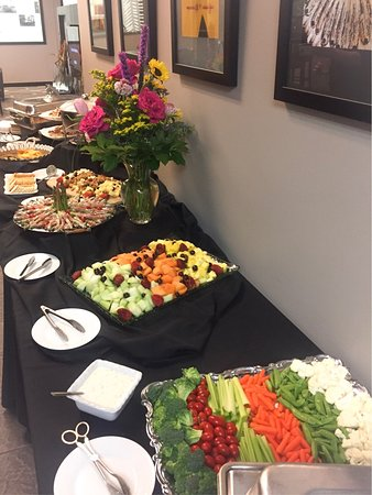 nosh buffet vegetable fruit appetizers cold plated construction tea party bridal shower