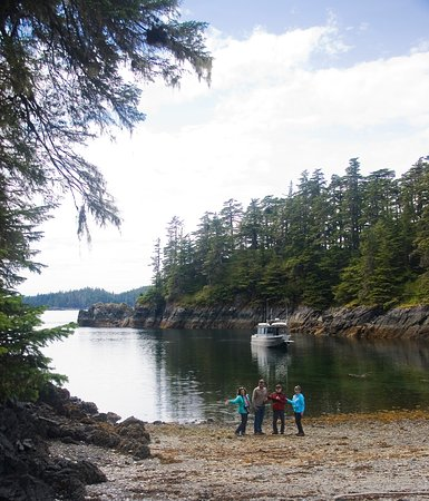 Tongass Kayak Adventures: The boat even has a drop-down gangplank on the bow for beach visits.