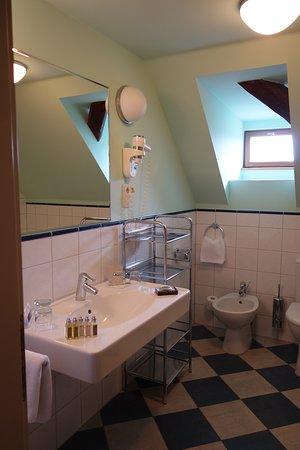 Well-appointed, spacious bathroom as well