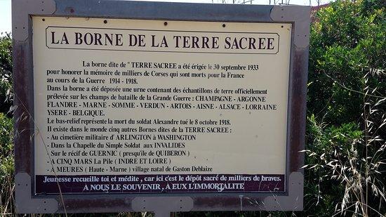 Communaute d'Agglomeration du Pays Ajaccien, Frankrike: Panneau explicatif