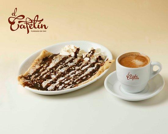 El Cafetín : Creppe de nutella  y café
