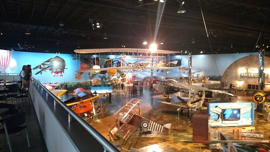 View of Air Zoo from Balcony. Kids rides and older planes