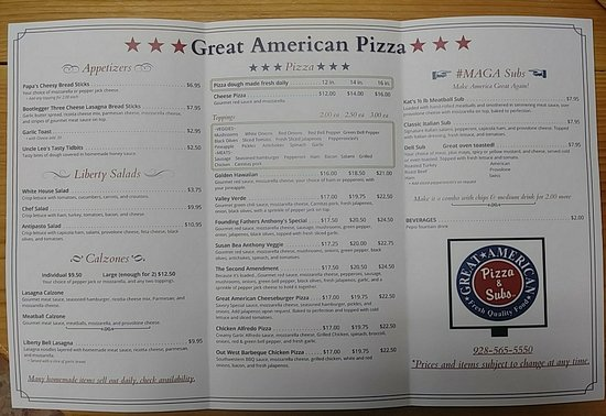 Golden Valley, Αριζόνα: Great American Pizza