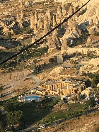 Stone Concept Hotel: view from hot air balloon of hotel