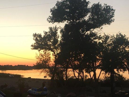 Othello, WA: Sunset over the beach