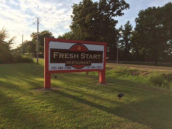 Martin, TN: Fresh Start Sign