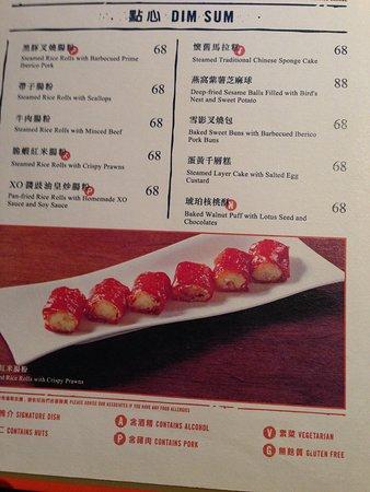 Hung Tong dim sum menu
