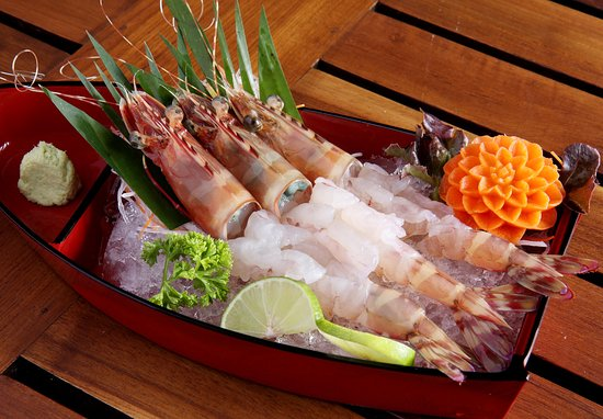 Kan Eang@Pier: Tiger prawn Sashimi - The best way to have tiger prawn