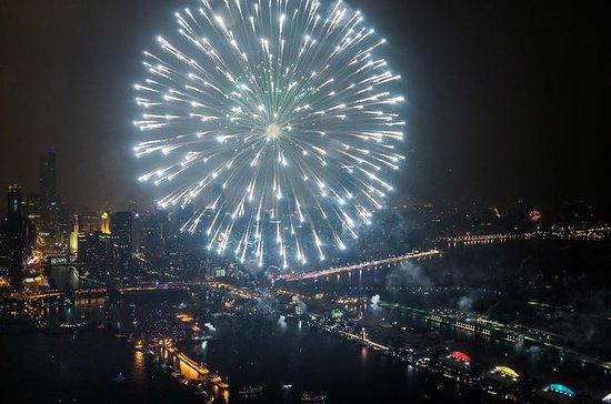 シカゴ・ヘリコプター・ツアー30分間の花火ショー