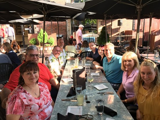 Wild River Grille: Outdoor group seating for large parties