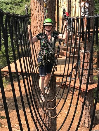 Tahoe Vista Treetop: Suspended jump ropes! Actually, you just step from one to the next.