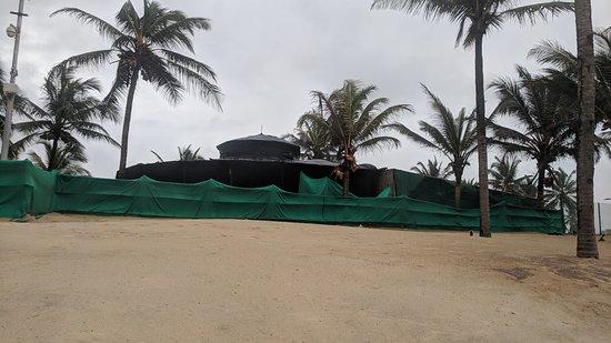 Varca Beach during monsoon